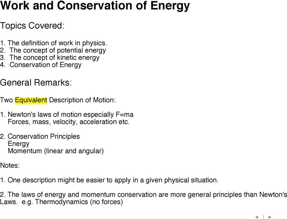 Work and Conservation of Energy - PDF