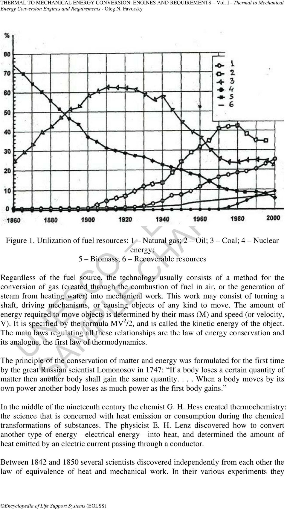 conversion of gas (created through the combustion of fuel in air, or the generation of steam from heating water) into mechanical work.