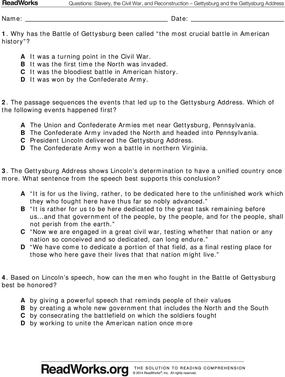 Essay on the gettysburg address