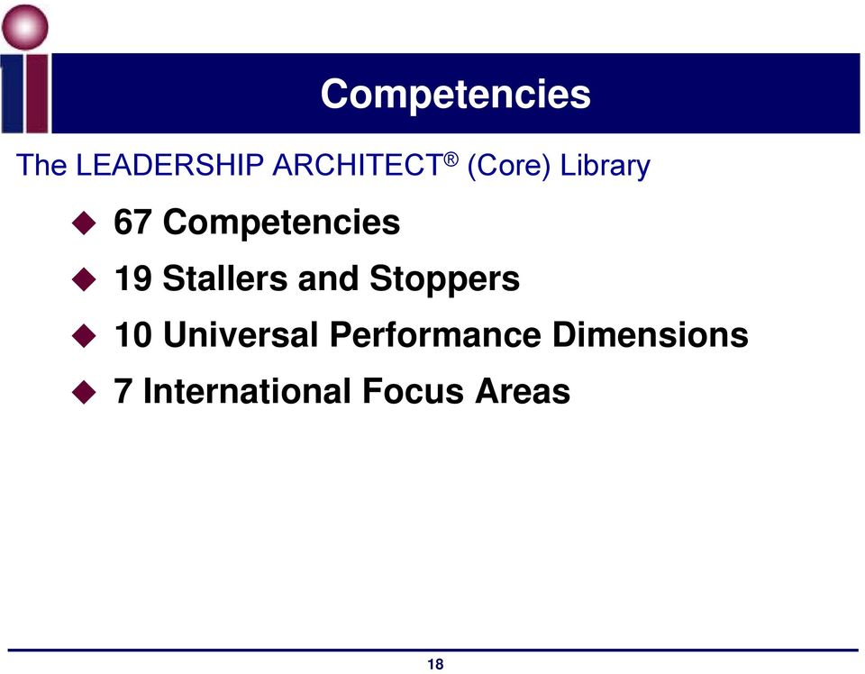 Competencies 19 Stallers and Stoppers