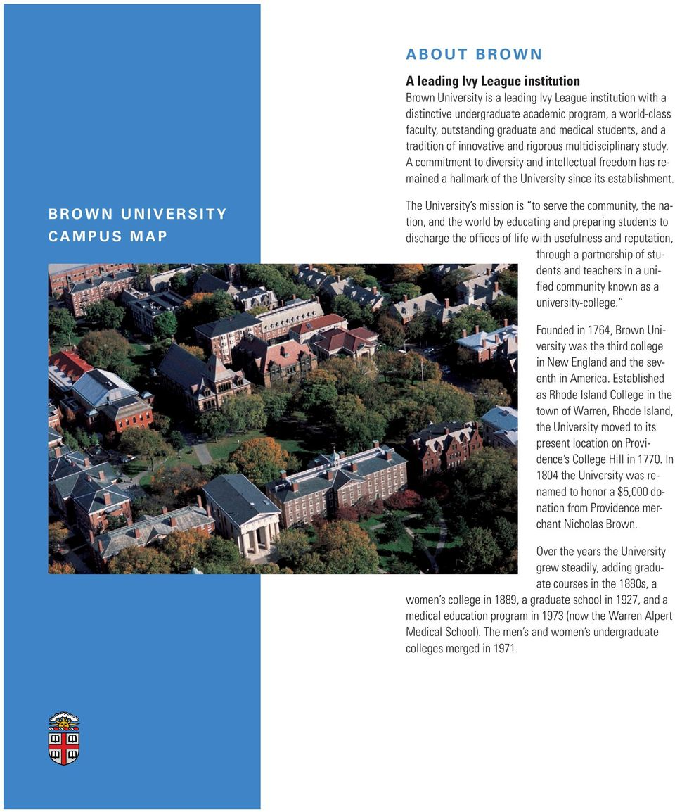 About Brown Brown University Campus Map Pdf