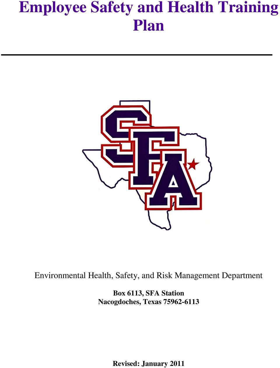 Management Department Box 6113, SFA Station