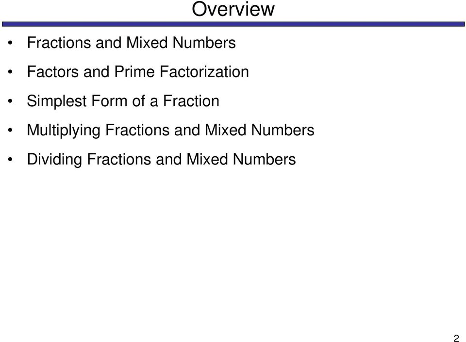 Form of a Fraction Multiplying Fractions