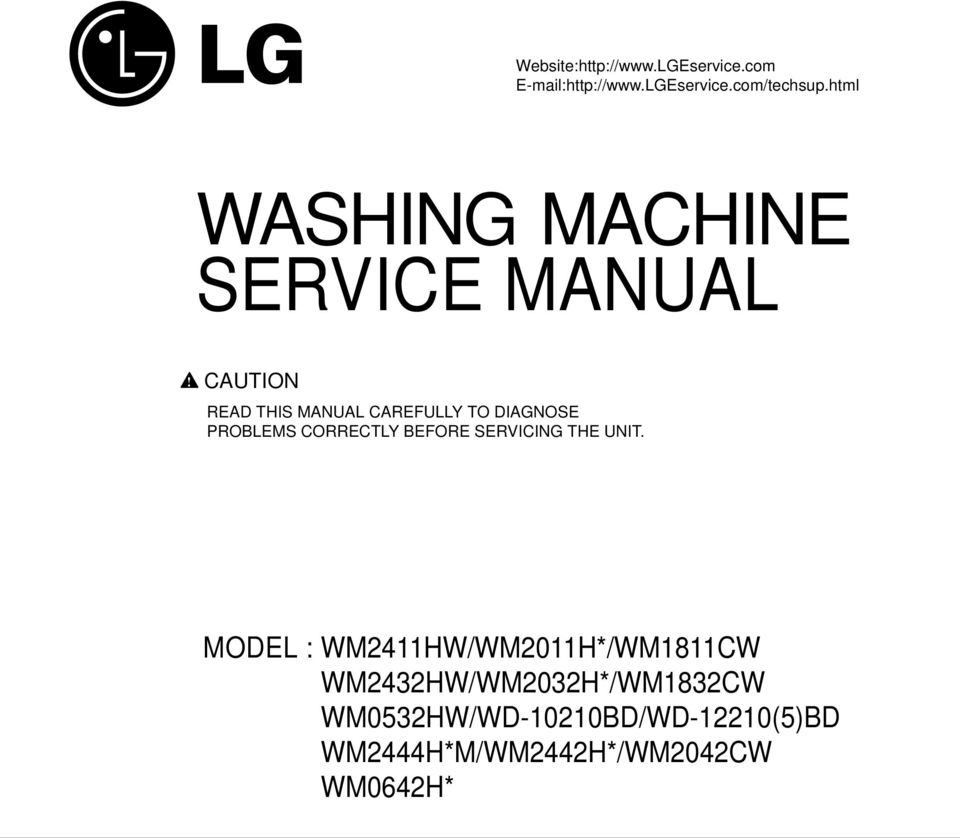 CAUTION READ THIS MANUAL CAREFULLY TO DIAGSE PROBLEMS CORRECTLY BEFORE SERVICING THE