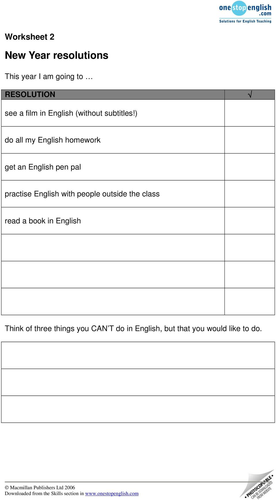 ) do all my English homework get an English pen pal practise English with