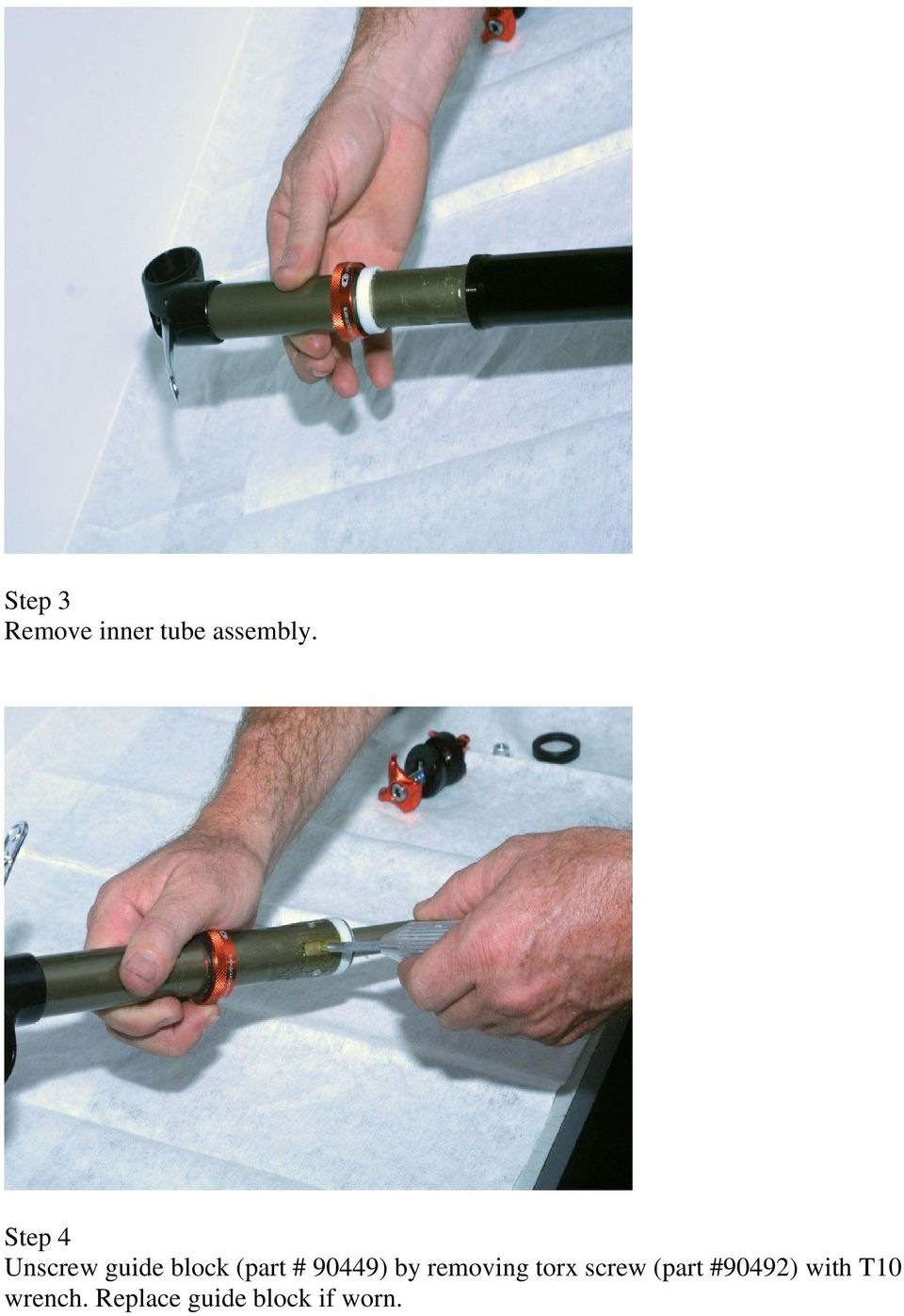 90449) by removing torx screw (part