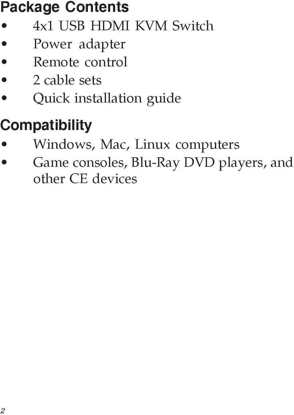 installation guide Compatibility Windows, Mac, Linux