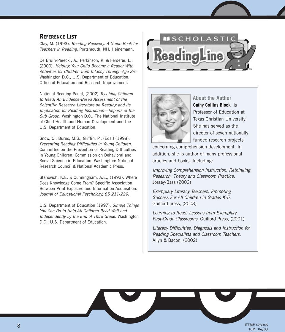 National Reading Panel, (2002) Teaching Children to Read: An Evidence-Based Assessment of the Scientific Research Literature on Reading and its Implication for Reading Instruction Reports of the Sub
