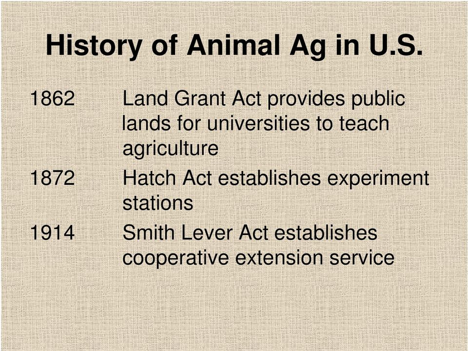 universities to teach agriculture 1872 Hatch Act