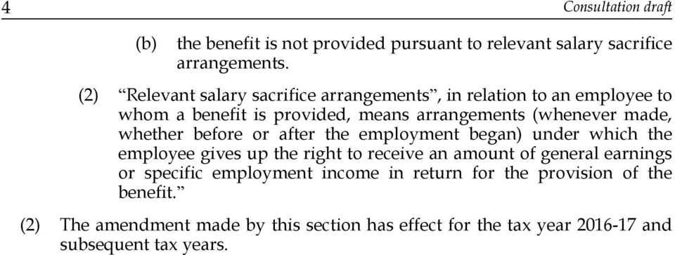 whether before or after the employment began) under which the employee gives up the right to receive an amount of general earnings or