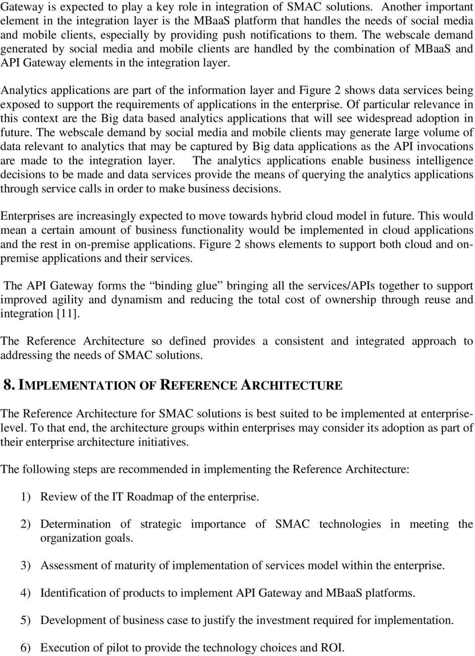 REFERENCE ARCHITECTURE FOR SMAC SOLUTIONS - PDF