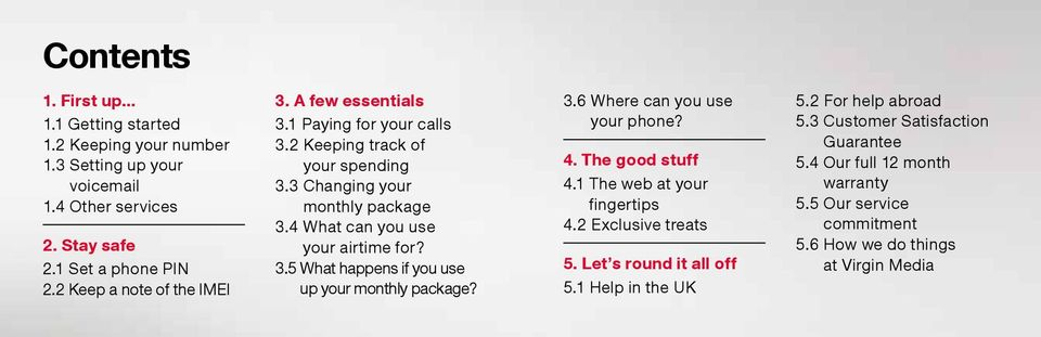 4 What can you use your airtime for? 3.5 What happens if you use up your monthly package? 3.6 Where can you use your phone? 4. The good stuff 4.