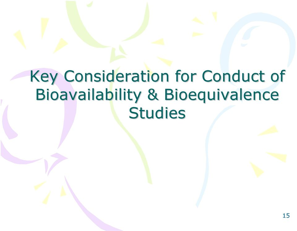 Bioavailability &
