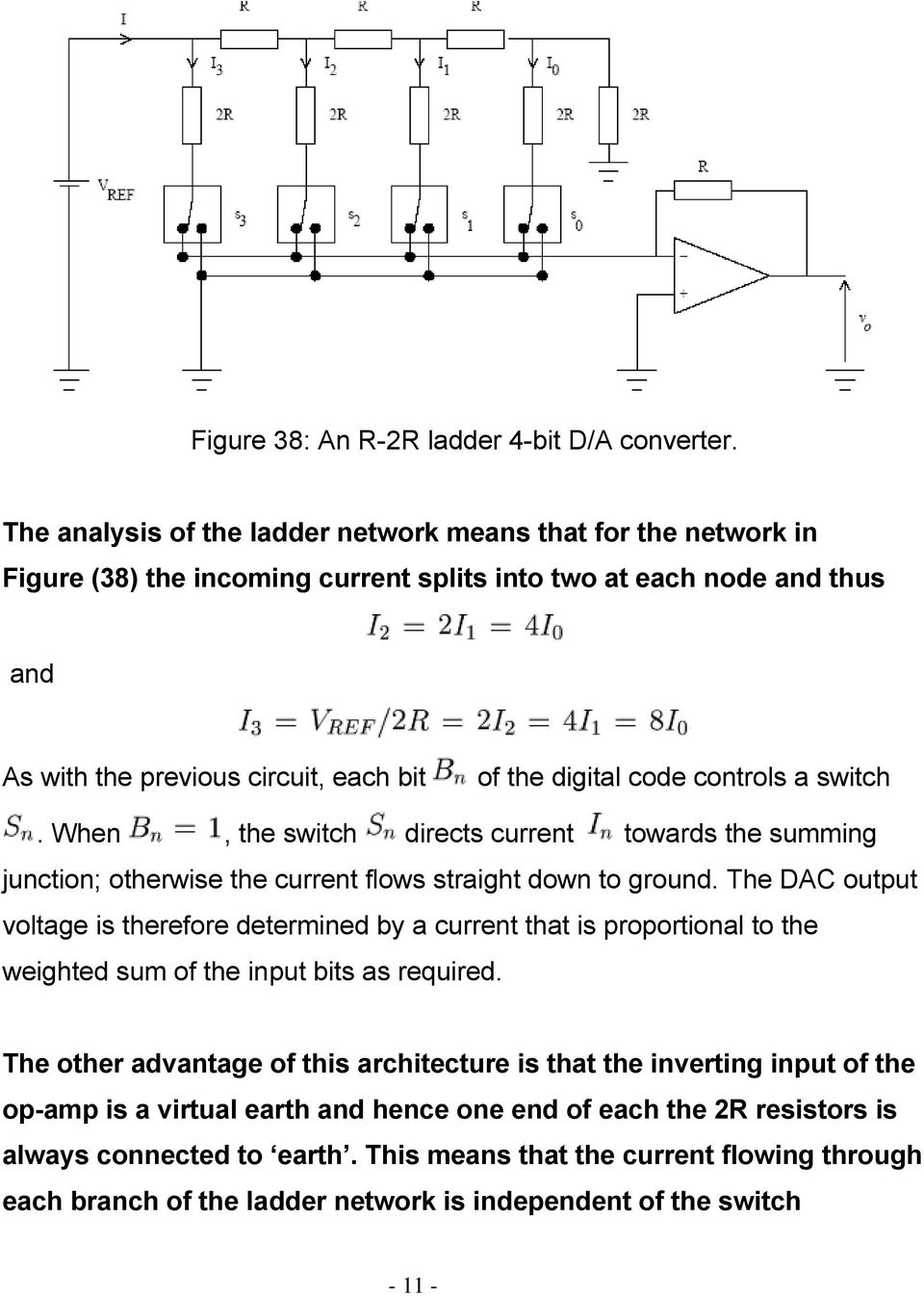 Digital To Analogue And Conversion Pdf R 2r Ladder Dac Circuit Diagram Controls A Switch When The Directs Current Towards Summing Junction Otherwise