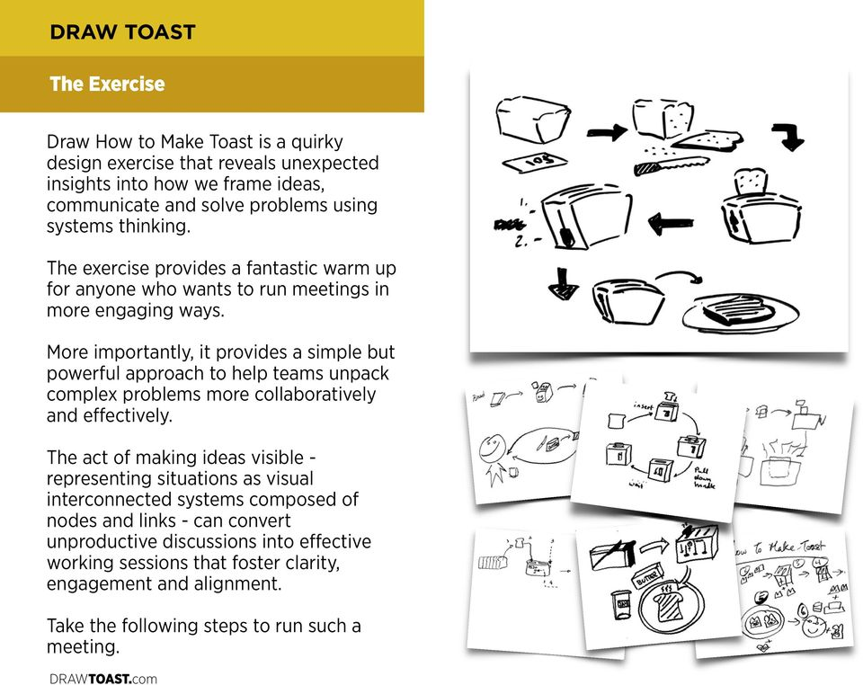 DRAW TOAST A Primer in Systems Thinking  Tom Wujec