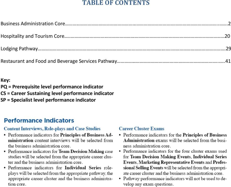 ..29 Restaurant and Food and Beverage Services Pathway.
