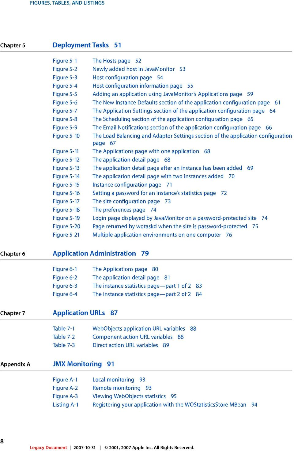 Figure 5-7 The Application Settings section of the application configuration page 64 Figure 5-8 The Scheduling section of the application configuration page 65 Figure 5-9 The Email Notifications