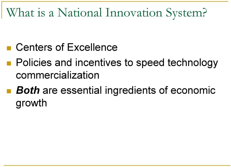 incentives to speed technology
