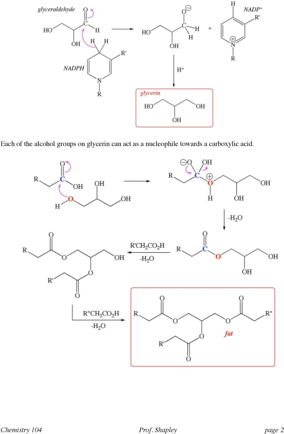 nucleophile towards a