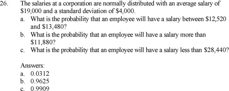What is the probability that an employee will have a salary be
