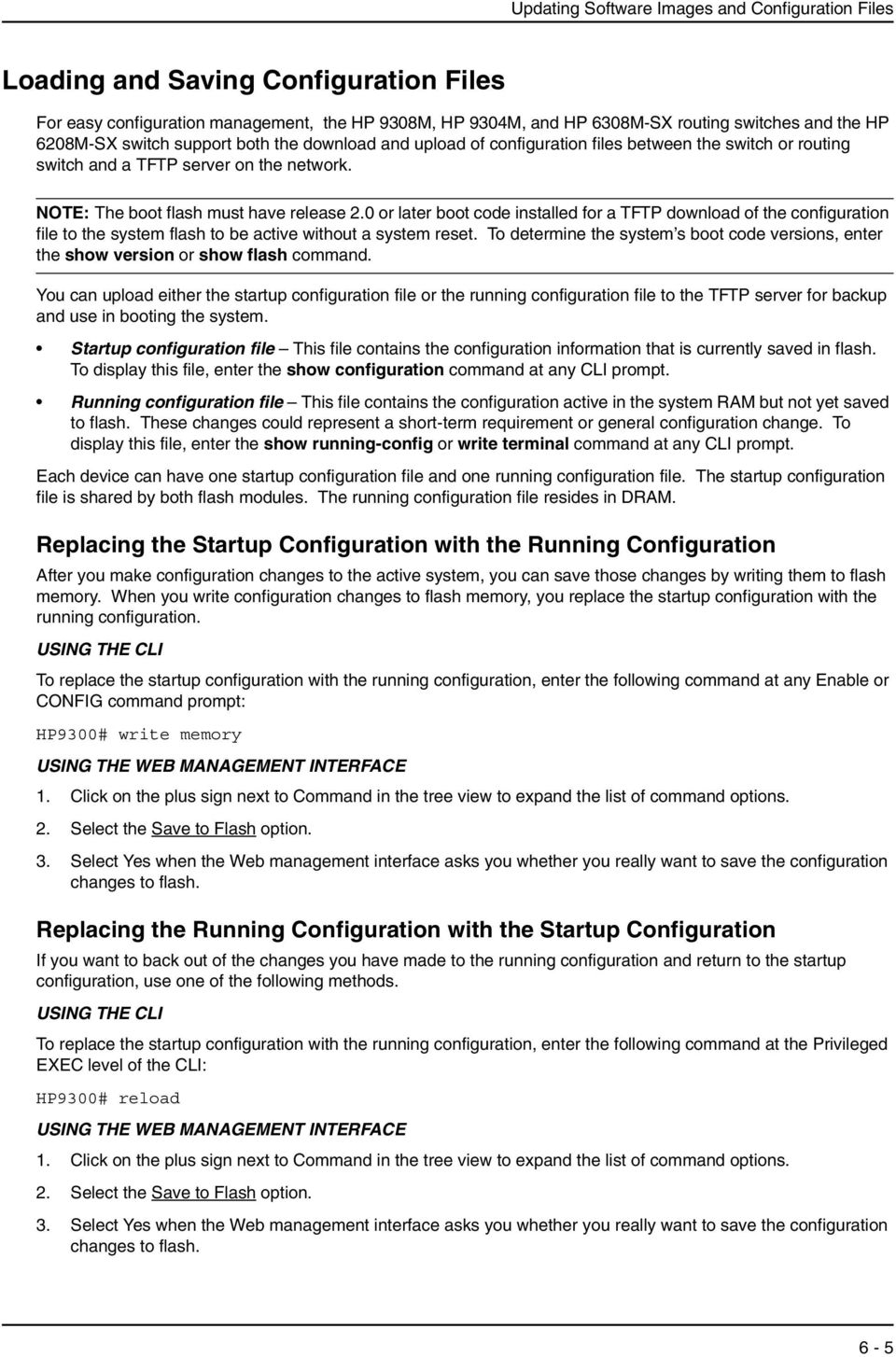 Chapter 6 Updating Software Images and Configuration Files - PDF