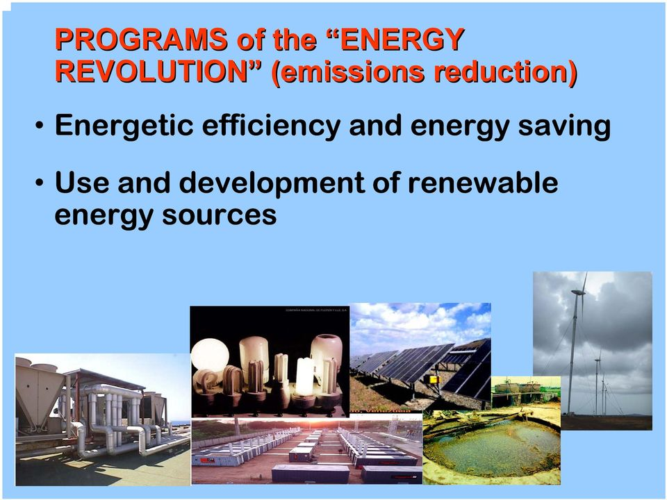 efficiency and energy saving Use