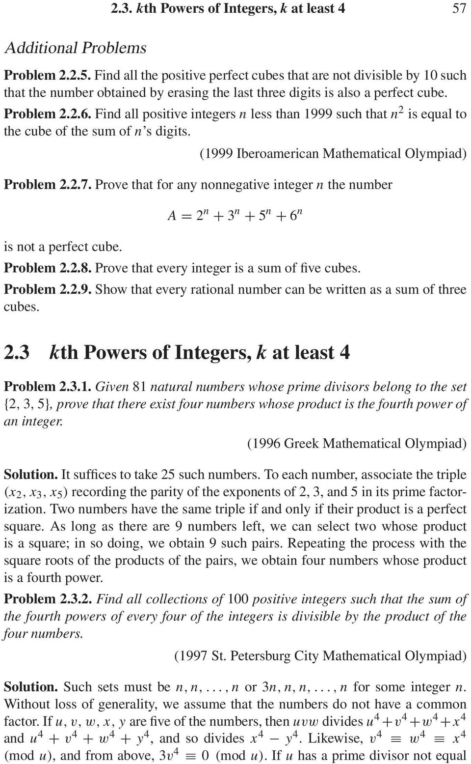 Find all positive integers n less than 1999 such that n is equal to the cube of the sum of n s digits. (1999 Iberoamerican Mathematical Olympiad) Problem..7.