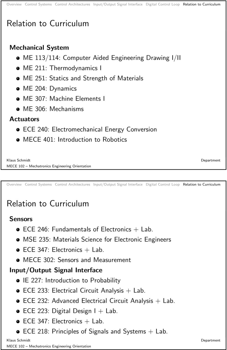 MSE 235: Materials Science for Electronic Engineers ECE 347: Electronics + Lab.