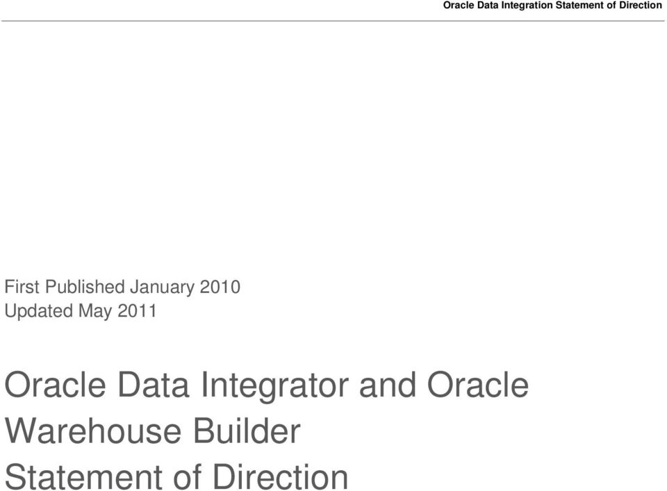 Integrator and Oracle