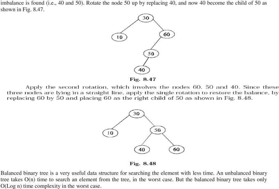 Balanced binary tree is a very useful data structure for searching the element with less time.