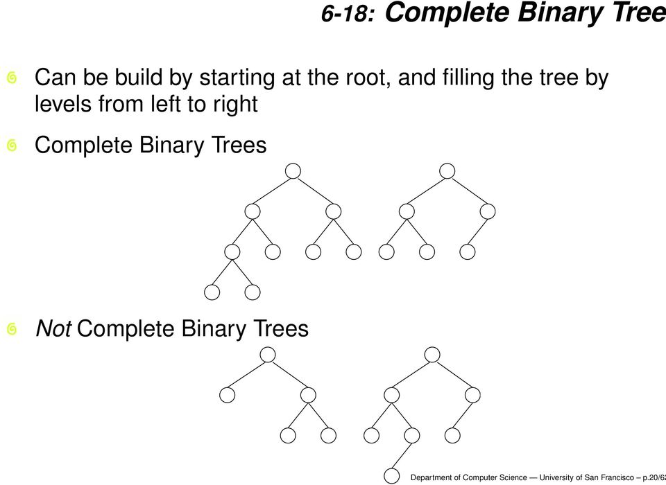 right Complete Binary Trees Not Complete Binary Trees