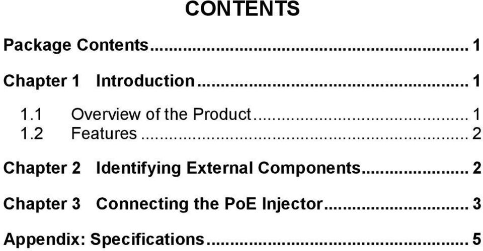.. 2 Chapter 2 Identifying External Components.