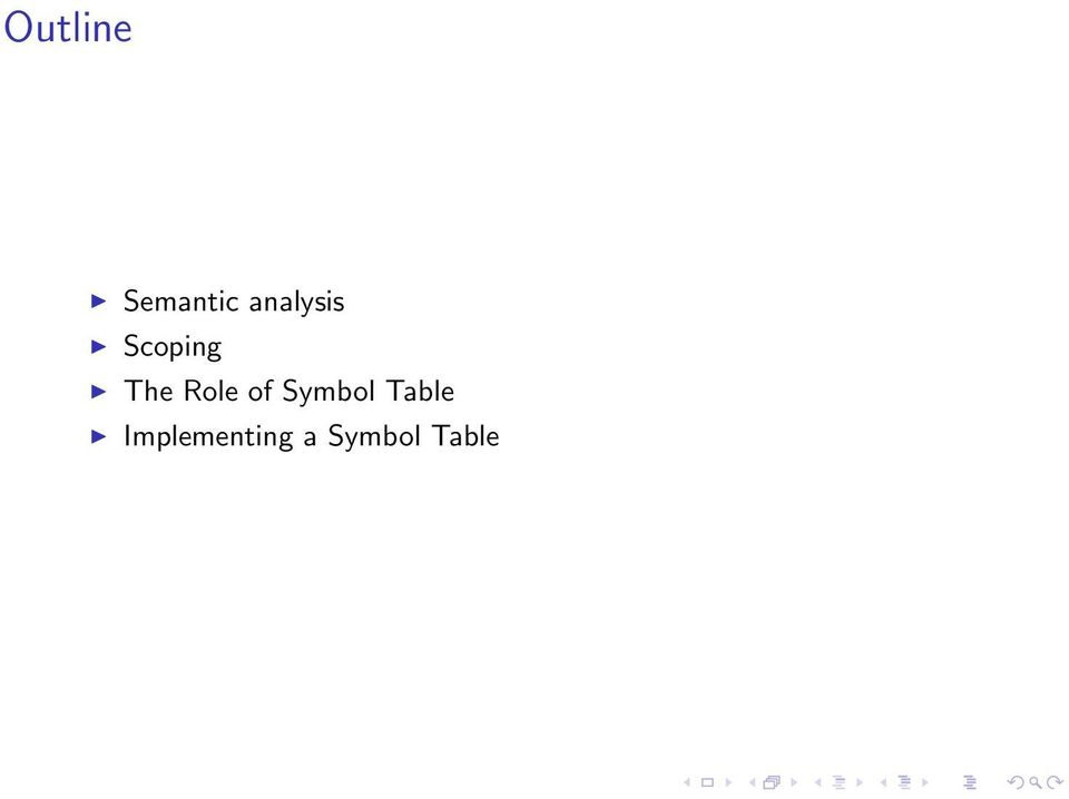 Role of Symbol Table