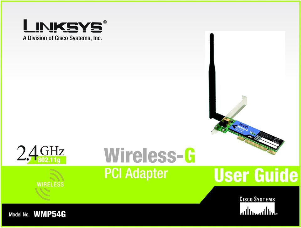 11g WIRELESS Wireless-G PCI