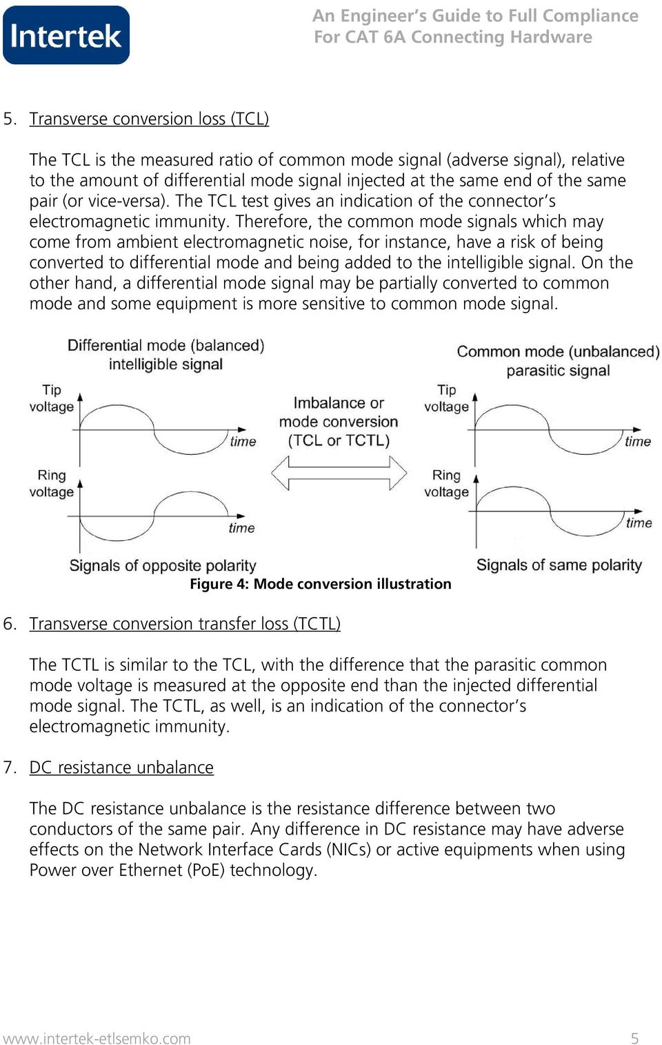 Therefore, the common mode signals which may come from ambient electromagnetic noise, for instance, have a risk of being converted to differential mode and being added to the intelligible signal.
