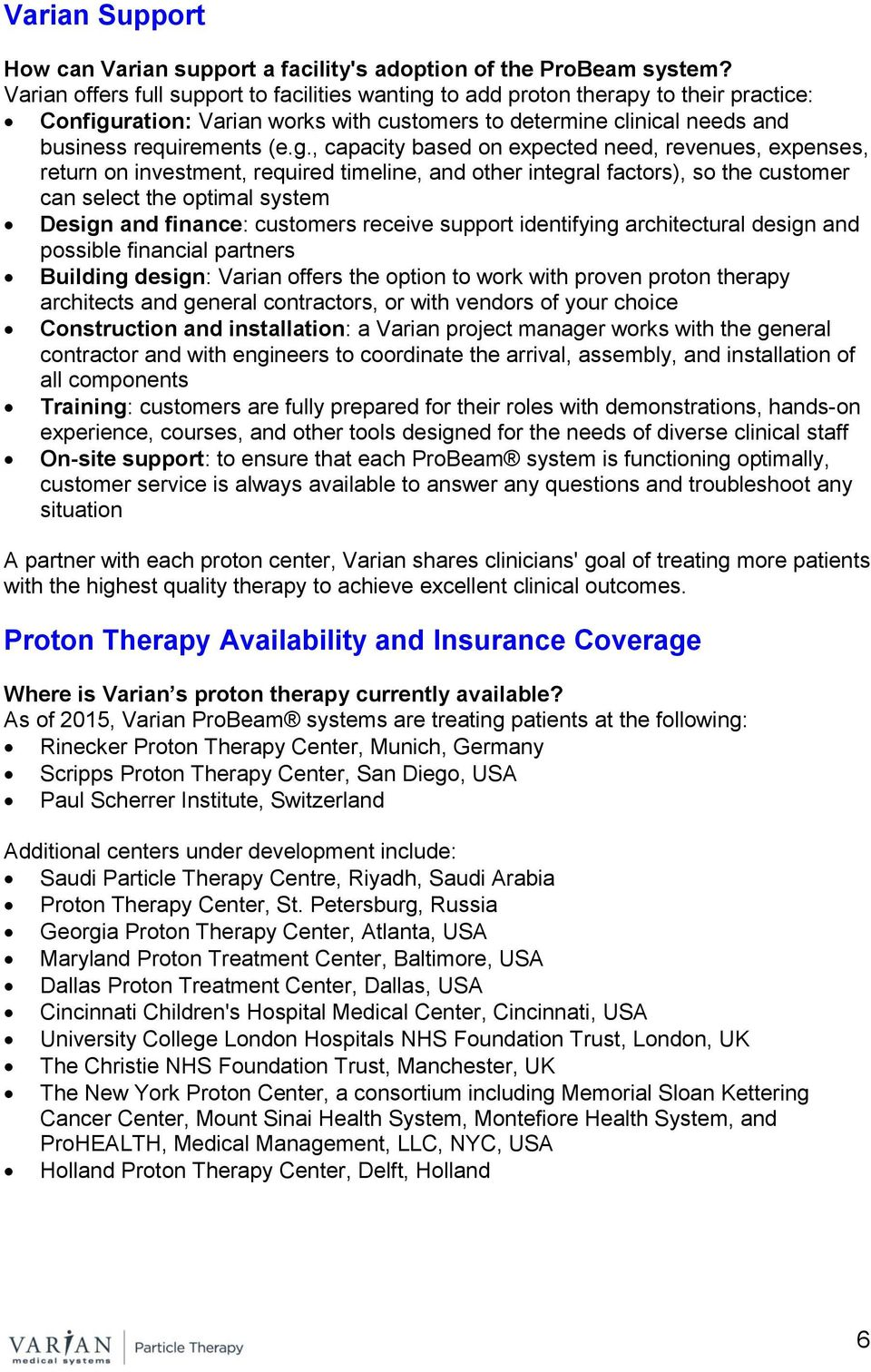 to add proton therapy to their practice: Configu
