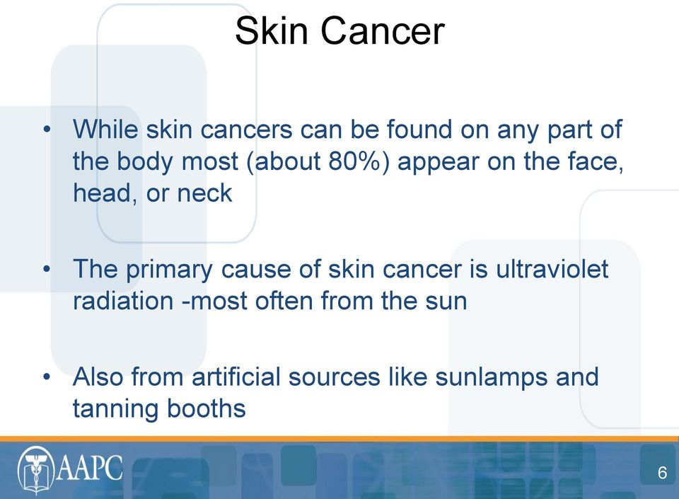primary cause of skin cancer is ultraviolet radiation -most often