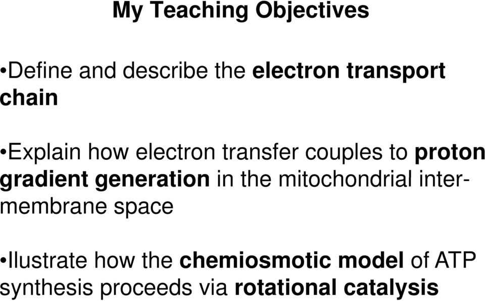 generation in the mitochondrial intermembrane space Ilustrate how