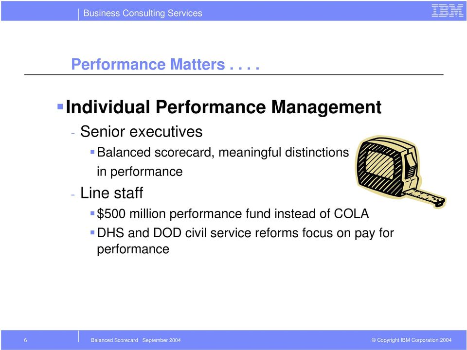 Balanced scorecard, meaningful distinctions in performance -