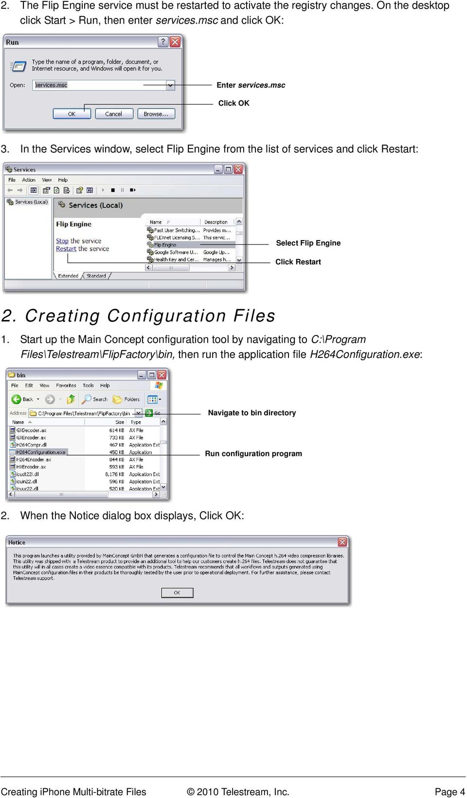 Creating Configuration Files 1.