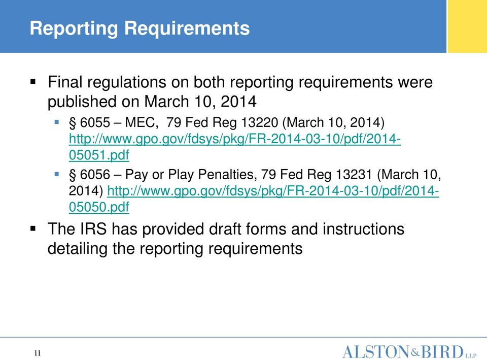 pdf 6056 Pay or Play Penalties, 79 Fed Reg 13231 (March 10, 2014) http://www.gpo.