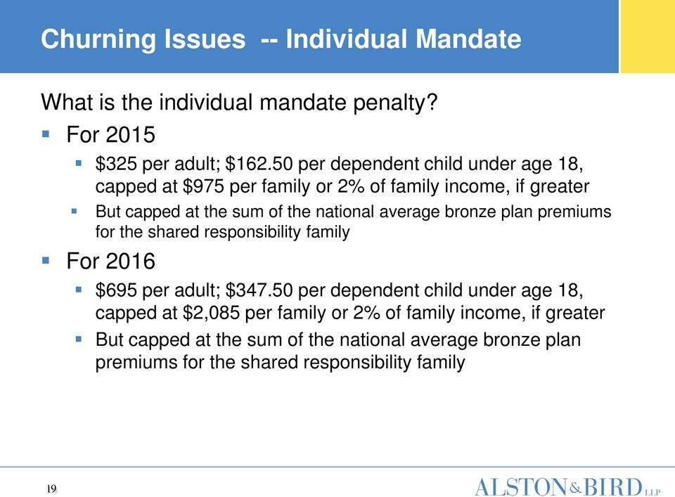 average bronze plan premiums for the shared responsibility family For 2016 $695 per adult; $347.