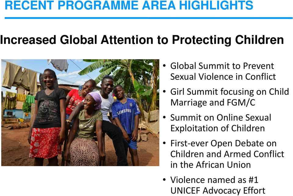 Marriage and FGM/C Summit on Online Sexual Exploitation of Children First-ever Open