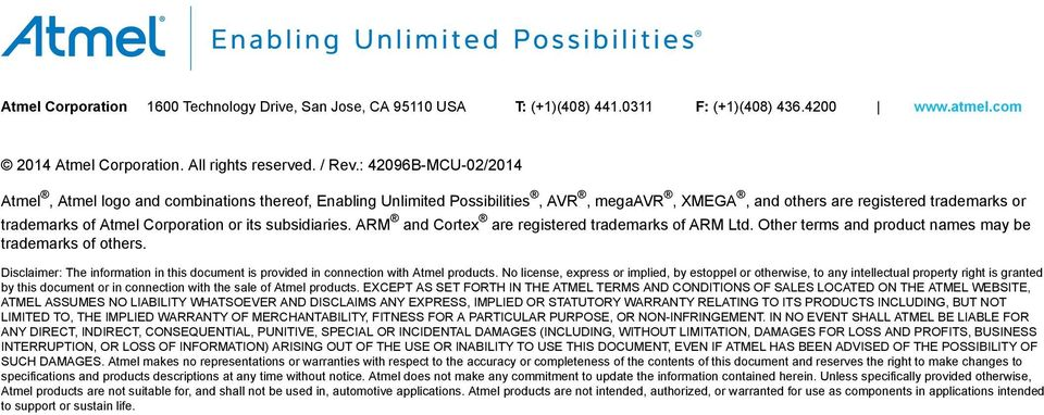 ARM and Cortex are registered trademarks of ARM Ltd. Other terms and product names may be trademarks of others.
