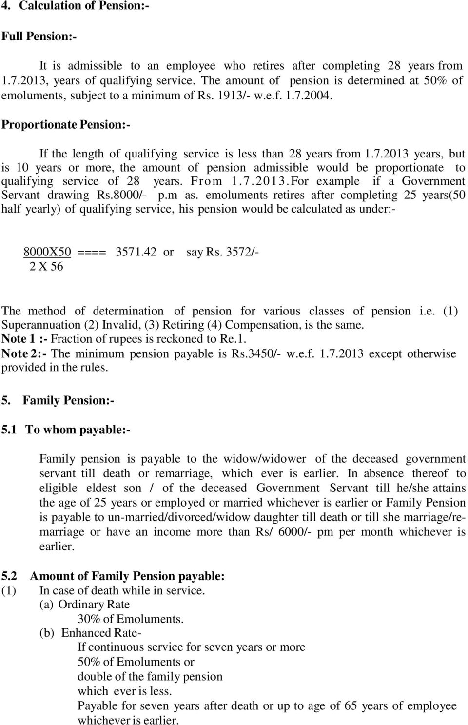 1 pension 11 meaning pension is a recurring monthly payment on 72013 years but is 10 years or more the amount of pension admissible would spiritdancerdesigns Images