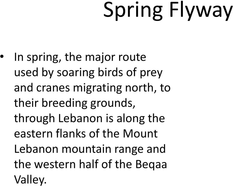 grounds, through Lebanon is along the eastern flanks of the