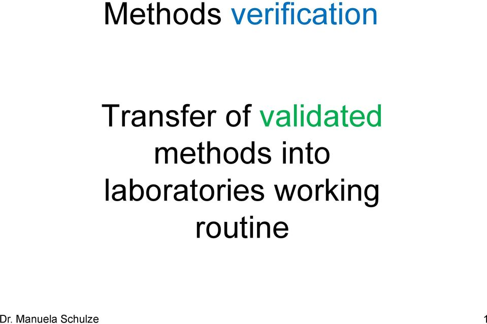 methods into laboratories