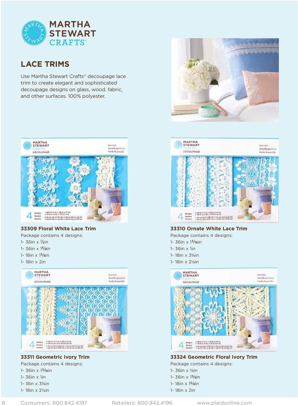 1-36in x 1 5 / 16in 1-36in x 1in 1-18in x 3¼in 1-18in x 2⅛in 33311 Geometric Ivory Trim Package contains 4 designs: 1-36in x 1 5 / 16in 1-36in x 1in 1-18in x 3¼in 1-18in x 2⅛in