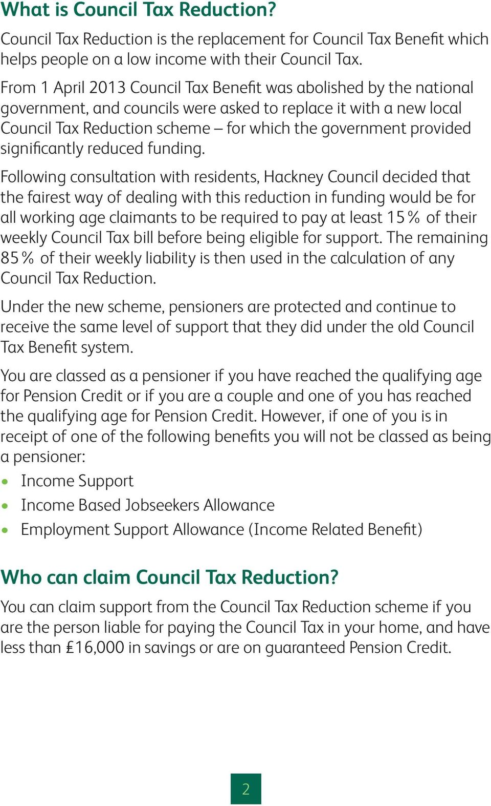 A guide to Council Tax Reduction - PDF