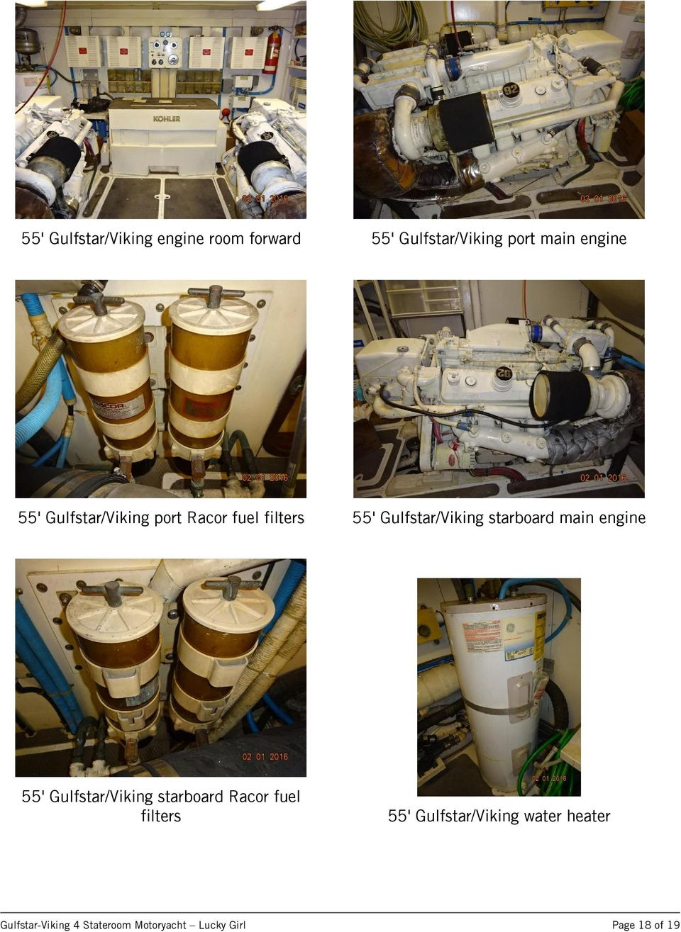 main engine 55' Gulfstar/Viking starboard Racor fuel filters 55'